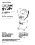 Craftsman evolv 921.167500 Operator`s manual