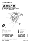 Craftsman 137.415030 Operator`s manual