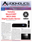 Yamaha MCX-2000 Specifications