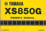 Yamaha XS850G Owner`s manual