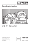 Miele G 651 Plus Operating instructions