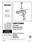 Craftsman 315.101390 Owner`s manual