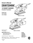 Craftsman 315.116321 Owner`s manual