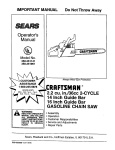 Craftsman 358.351061 Operator`s manual
