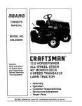 Craftsman 536.255861 Specifications