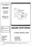 Craftsman 113.23611t Owner`s manual