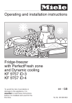 Operating and installation instructions Fridge-freezer with