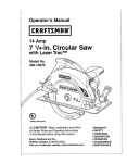 Craftsman 320.10870 Operator`s manual