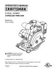 Craftsman 315.114232 Operator`s manual