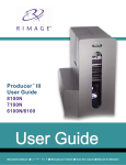 Rimage Producer III 8100 User guide