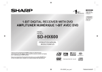Sharp SD-HX600 Operating instructions