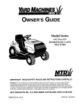 Yard Machines 699 Specifications