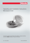 Operating and Installation Instructions Microwave Oven