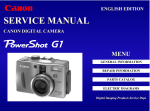 Canon C83-1004 - PowerShot G1 Digital Camera Service manual