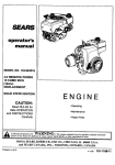 Craftsman 143.994016 Operator`s manual