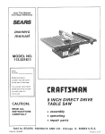 Craftsman 113.221611 Owner`s manual