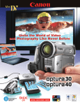 Canon Optura 40 - Optura 40 MiniDV Camcorder Specifications