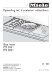 Operating and installation instructions Gas hobs CS 1011 CS