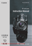 Canon LEGRIA HF S30E Instruction manual