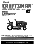 Craftsman EZ3 917.258553 Owner`s manual