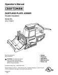 Craftsman 315.175011 Operator`s manual