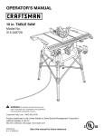 Craftsman 315.349720 Operator`s manual