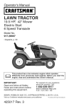 Craftsman 917.28907 Operator`s manual