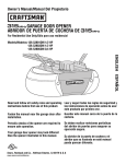 Craftsman 139.53905DM Owner`s manual
