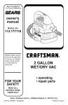 Craftsman 113.177110 Owner`s manual