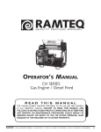 Ramteq BVE Series Operator`s manual