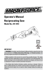 MasterForce 241-0751 Operator`s manual