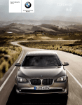 BMW 750 - Owner`s manual