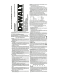 DeWalt DC490 Instruction manual