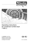 Miele T 650 C Operating instructions