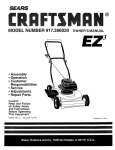 Craftsman 917.386020 Owner`s manual