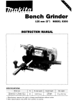 Makita 9300 Instruction manual