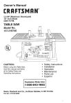 Craftsman 137.218740 Operating instructions