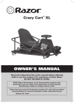 Razor Crazy Cart Owner`s manual