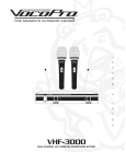 VocoPro VHF-3000 Specifications