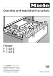 Miele F 7138 S Operating instructions