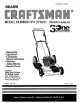 Craftsman 917.372810 Owner`s manual