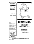 Craftsman 113.177865 Owner`s manual