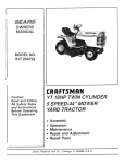 Craftsman 917.254722 Owner`s manual