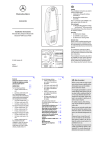 Mercedes-Benz Audio 50 Operating instructions