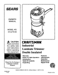 Craftsman 315.275120 Owner`s manual