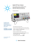 Agilent Technologies N6705 Specifications