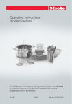 Miele G 6160 Operating instructions