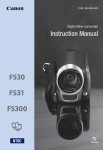 Canon FS31 Instruction manual