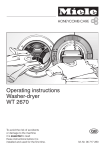 Miele WT 2670 Operating instructions