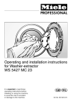 Miele WS 5427 MC 23 Operating instructions